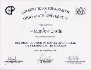 Colegio de Postgraduados & Ohio State University