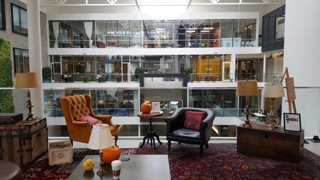 Airbnb headquarters lobby - 3rd floor